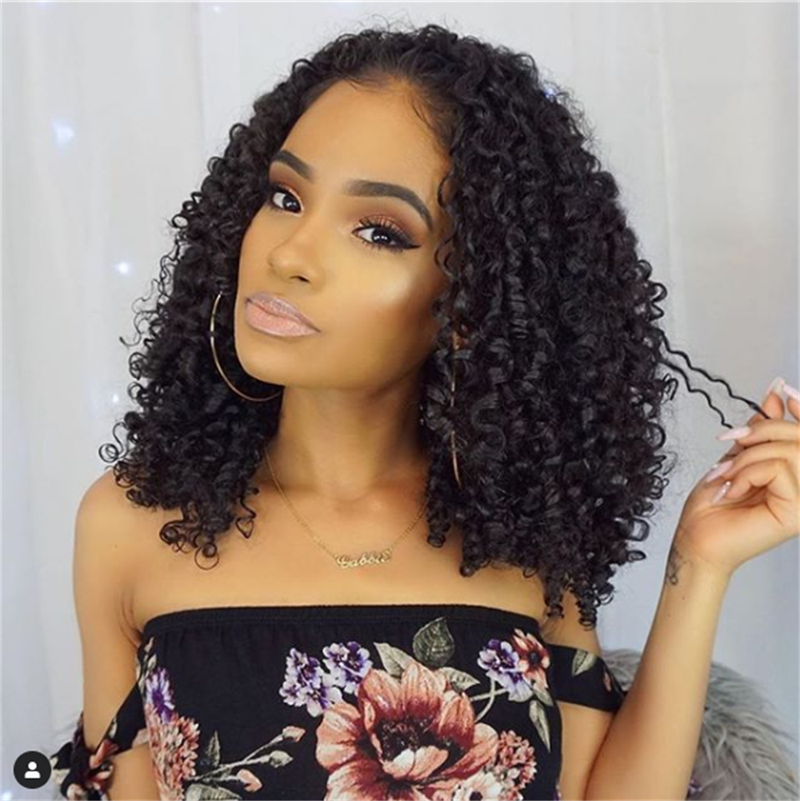 Jessica Hair Lace Front Wigs Jerry curly Brazilian Remy Human Hair Super Curly with Baby Hair