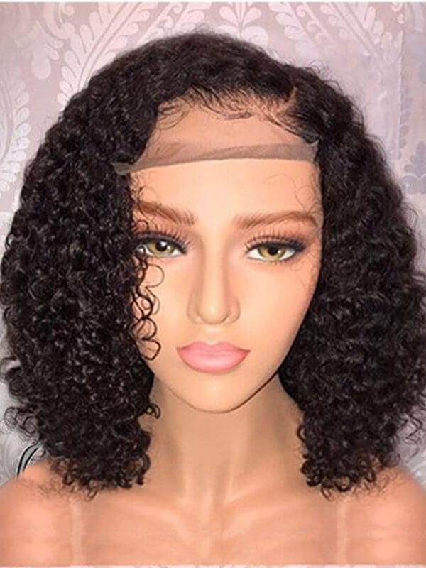 Jessica hair Super Curly 360 Lace Frontal Remy Human Hair Bob Wigs