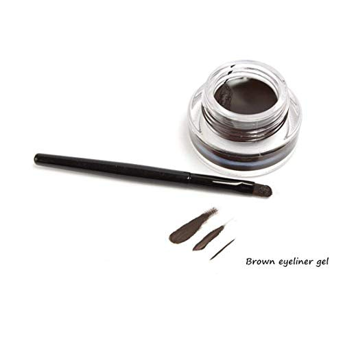 Black and Brown 2 in 1  Gel Eyeliner Set Water Proof Smudge Proof