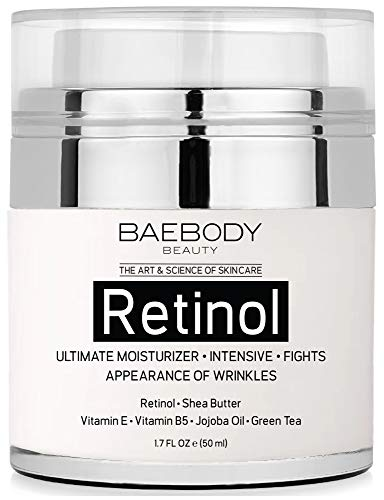 Baebody Retinol Moisturizer Cream with Jojoba Oil & Vitamin E, 1.7 Ounces