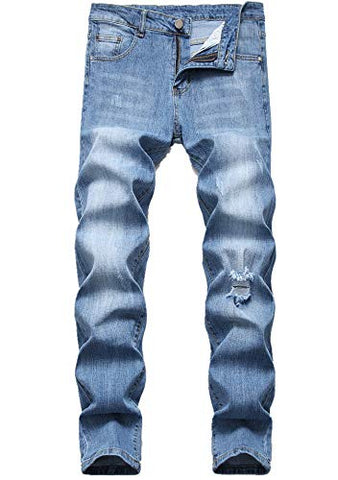 Fredd Marshall's Skinny Slim Fit Stretch Straight Leg Fashion Jeans