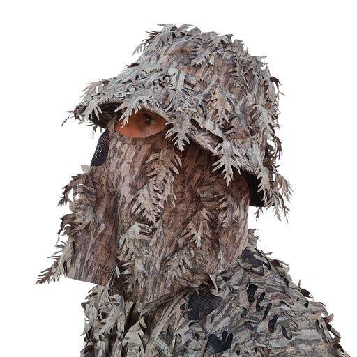 Mossy Oak New Bottomland Leafy Bucket Hat with Built-in Face Mask
