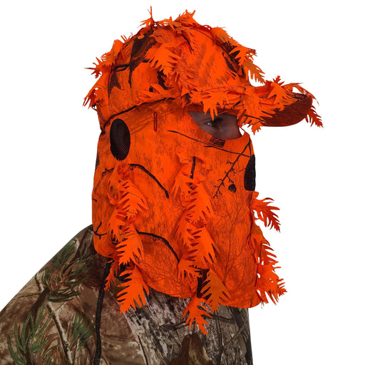 Blaze Orange Hat and Face Mask for Hunting Realtree AP