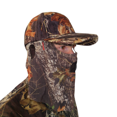 Mossy Oak Break-Up Camo Hat and Front Face Concealment (One Size Fits Most)