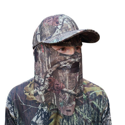 Mossy Oak Break-Up Infinity Camo Hat with Front Face Concealment (One Size Fits Most)