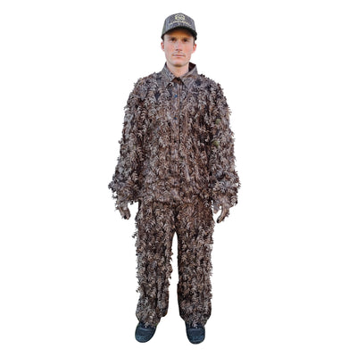 Mossy Oak Bottomland (NEW) 3D Leafy Camo Ghillie Suit, Ultra Lightweight & Quiet (Top + Bottom) BRAND NEW RELEASE
