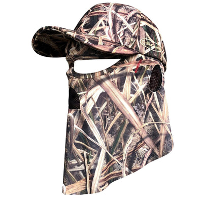 Mossy Oak Shadow Grass Blades | Camo Hat and Front Face Concealment (One Size Fits Most)