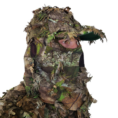 NWTF Mossy Oak Obsession   3D Leafy Camo Mesh Back Hat with Front Face Concealment Adjustable