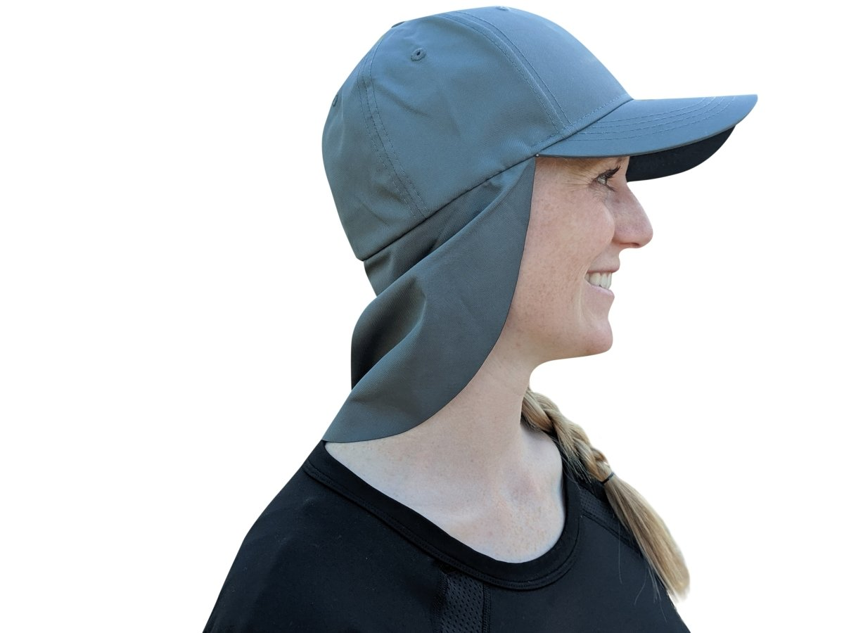 Gray Sun Shade Hats | UV Protection | UPF 45+ | CoolCore Fabric (Fitted) - QuikCamo