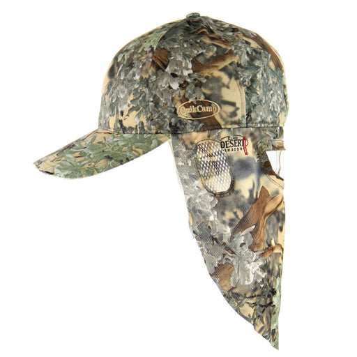 Kings Desert Shadow | Camo Hat and Rear Face Mask (Fitted) - QuikCamo