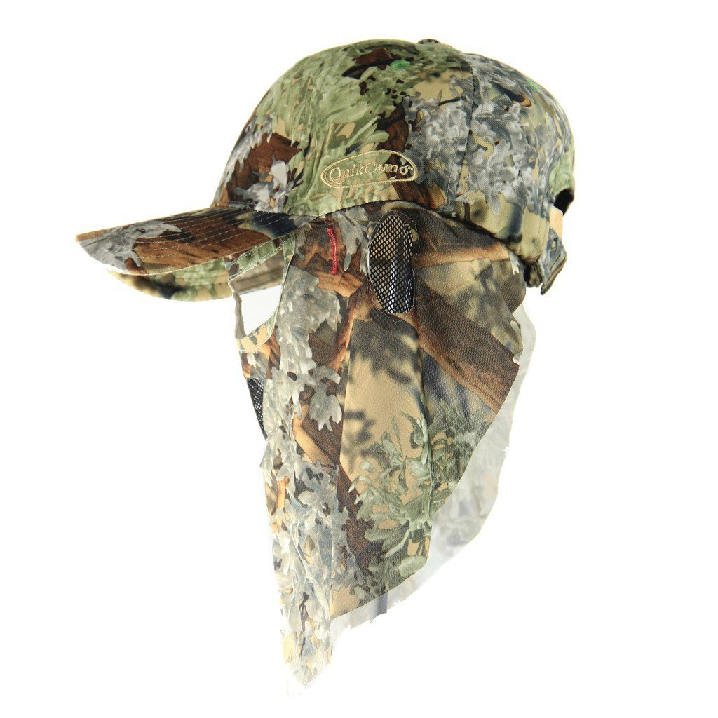 Kings Desert Shadow | Camo Hat with Built-in Front Face Mask (Adjustable) - QuikCamo