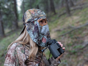 Kings Mountain Shadow | Camo Hat and Rear Face Mask (Fitted) - QuikCamo