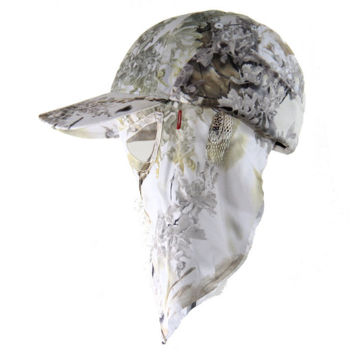Kings Snow Shadow | Camo Hat and Front Face Mask + Ear Warmers (Fitted) - QuikCamo