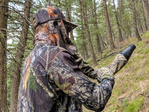 Mossy Oak Break Up | Camo Hat and Front Face Mask (Adjustable) - QuikCamo