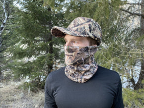 Mossy Oak Shadow Grass Blades Camo Face Mask QuikCover | Lightweight Multifunctional Headwear - QuikCamo