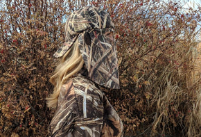 Mossy Oak Shadow Grass Blades | Camo Hat and Rear Face Mask (59.5 cm Adjustabe) - QuikCamo