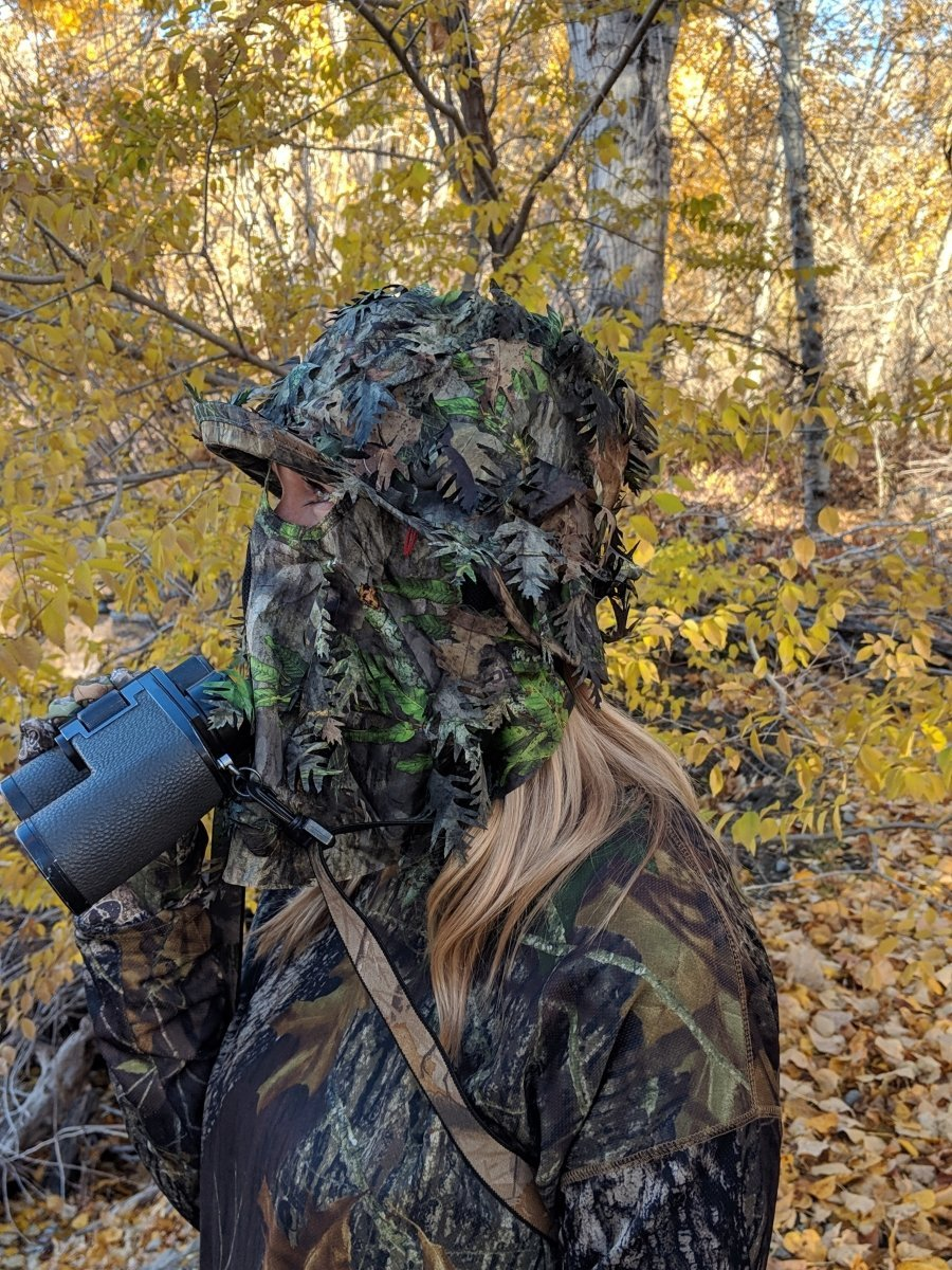 NWTF Mossy Oak Obsession | 3D Leafy Camo Bucket Hat with Face Mask - QuikCamo
