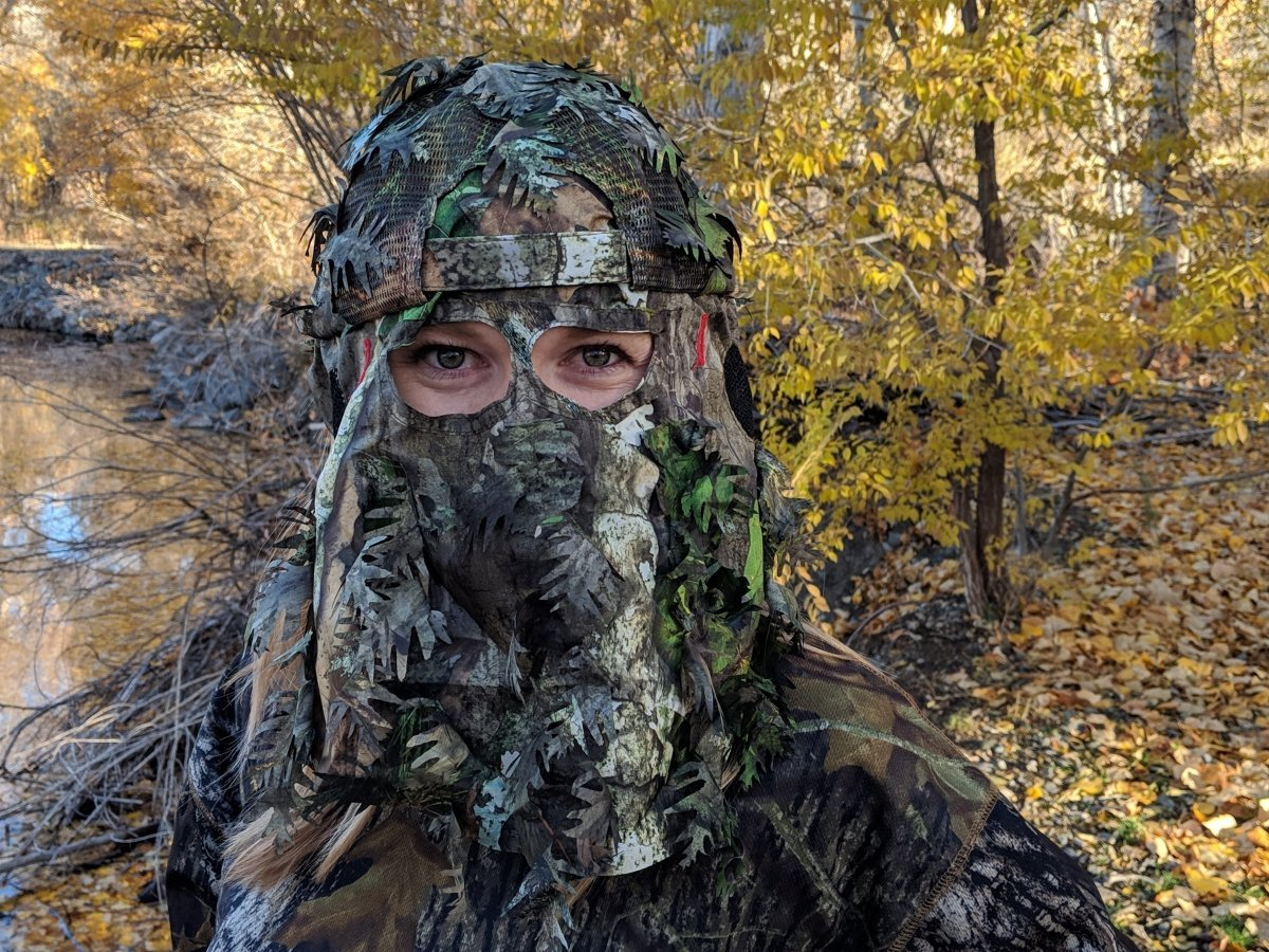 NWTF Mossy Oak Obsession | 3D Leafy Camo Hat with Rear Face Mask (Adjustable) - QuikCamo