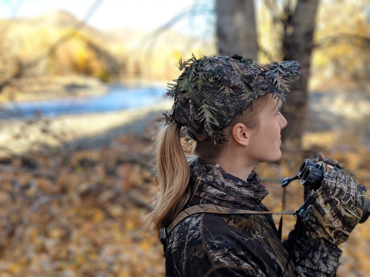 NWTF Mossy Oak Obsession | 3D Leafy Camo Mesh Back Hat with Front Face Mask (58/60 cm Adjustable) - QuikCamo