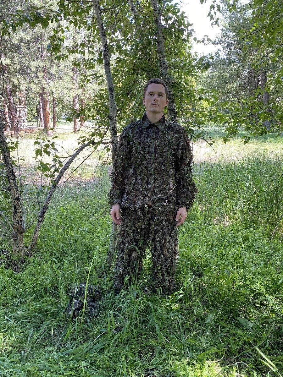 NWTF Mossy Oak Obsession 3D Leafy Camo Suit, Top and Bottom (Lightweight, Quiet) - QuikCamo