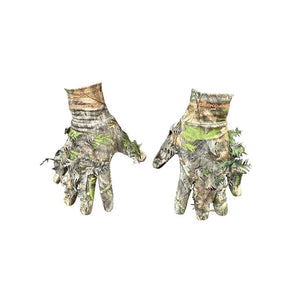 NWTF Mossy Oak Obsession Camo 3D Leafy Gloves Perfect for Turkey Hunting - QuikCamo