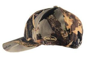 QuikCamo Camo West Hybrid | Camo Hat with Rear Face Mask (59cm Fitted 7 3/8) - QuikCamo