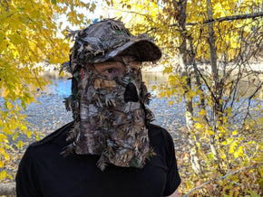 Realtree Xtra Leafy Camo Face Mask Hat by QuikCamo