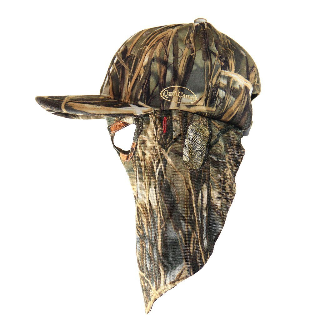 Realtree Max-4 | Camo Hat and Front Face Mask (Adjustable) - QuikCamo