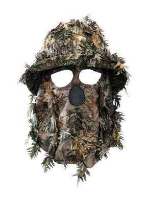 Realtree Xtra | 3D Leafy Camo Bucket Hat and Face Mask - QuikCamo
