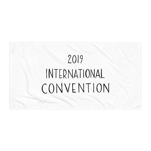 2019 INTERNATIONAL CONVENTION COTTON TOWEL