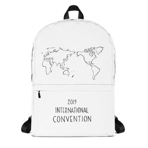 WORLD MAP - 2019 INTERNATIONAL CONVENTION - BACKPACK