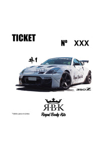 TICKET SORTEO NISSAN 350Z