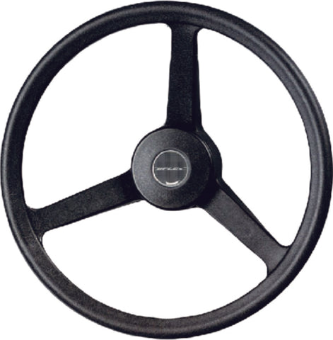 3-Spoke Steering Wheel - Black
