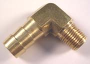 Brass Elbow Fitting - 1/4 x 3/8 Barb