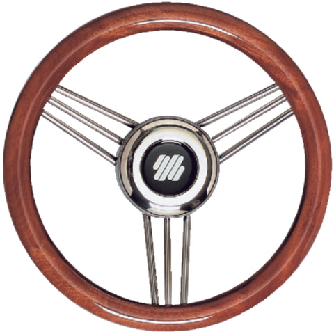 Mahogany Non-Magnetic Stainless Steel Steering Wheel