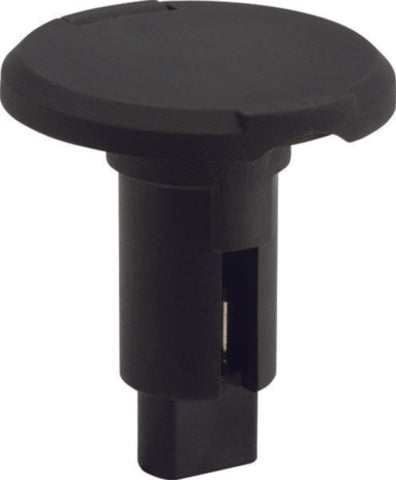 Roung Plug-In Light Base - 2-Pin (Black)