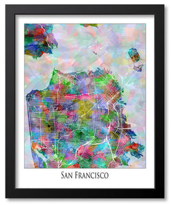 City Map Art - USA Map Prints