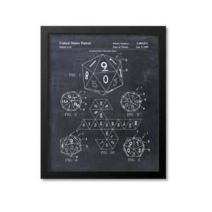 20 Sided Dice Patent Print