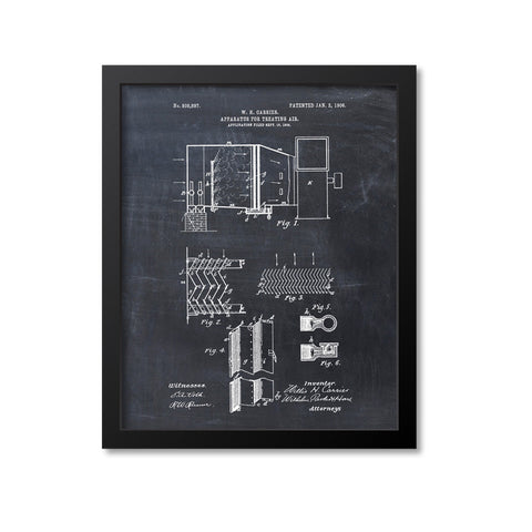 Air Conditioning Patent Print