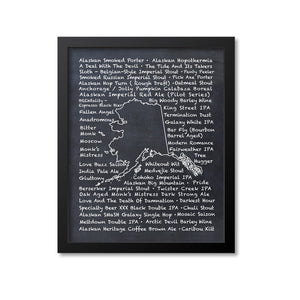 Alaska Beer Map Art Print
