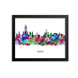 Albany Skyline Painting Art Print