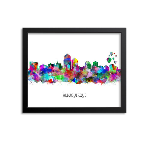 Albuquerque Skyline Painting Art Print
