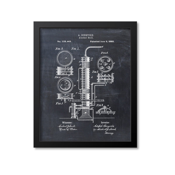 Alcohol Still Patent Print