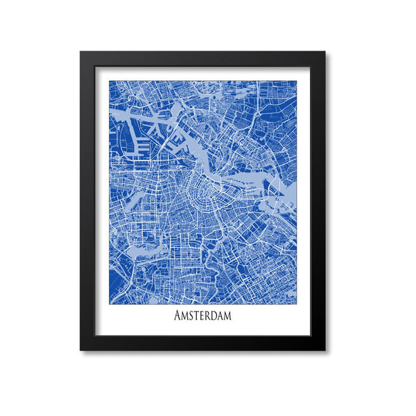 Amsterdam Map Art Print, Netherlands