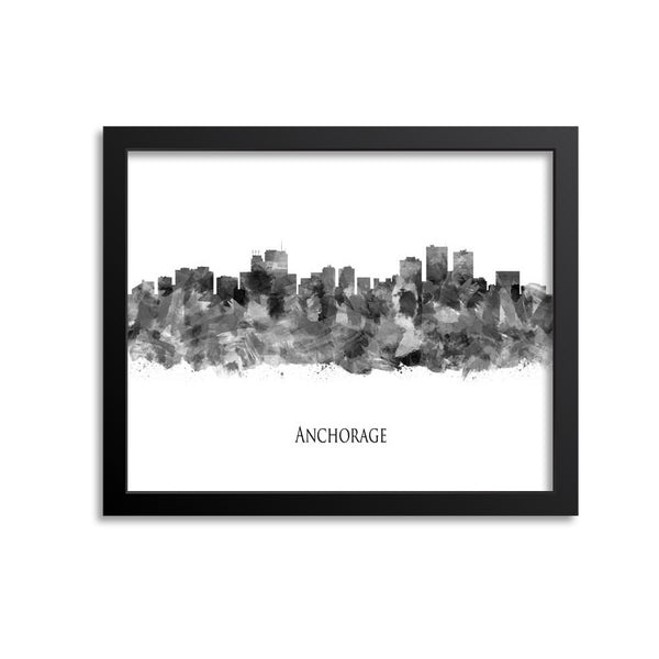 Anchorage Skyline Painting Art Print
