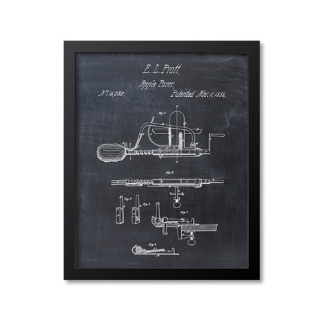 Apple Peeler Patent Print