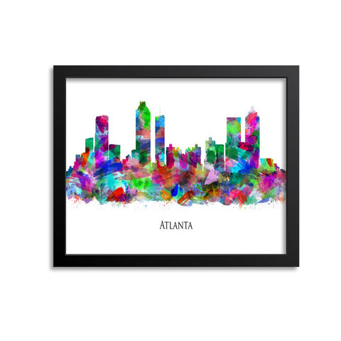 Atlanta Skyline Painting Art Print