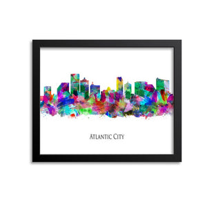 Atlantic City Skyline Painting Art Print