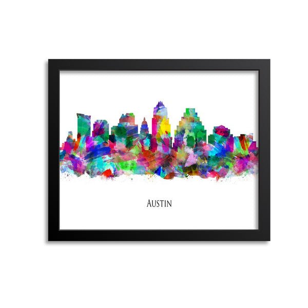 Austin Skyline Painting Art Print