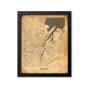 Belfast Map Art Print, Northern Ireland